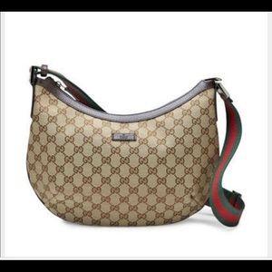 Authentic Gucci Canvas Crossbody Bag